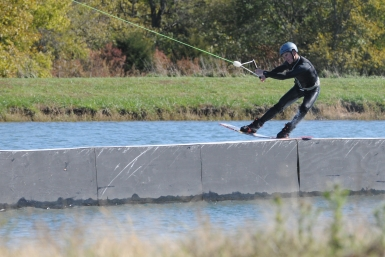 Jack Schoepp getting way over the nose on the Alliance rail.