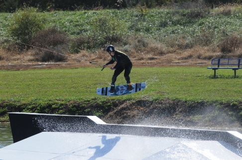 Matt Gagnon eyeing up a back lip transfer.