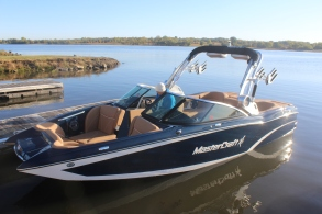 A beauty of a towboat, the MasterCraft X23.