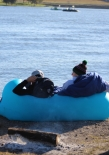 Staying warm at the boat comp wasn't easy, but these guys had it figured out.